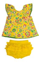 Infant Girl's Masalababy Flutter Top & Ruffle Bloomers Set