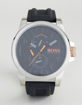 BOSS ORANGE By Hugo Boss Detroit Sport Rubber Watch In Black 1550006