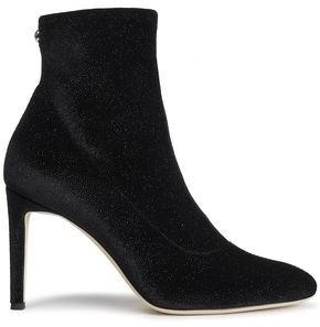 Giuseppe Zanotti Metallic Stretch-velvet Sock Boots