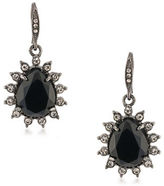 Carolee Gotham Hematite-Tone Drop Earrings