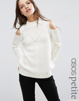 Asos Sweater in Cable Stitch with Cold Shoulder