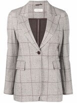 Thumbnail for your product : Circolo 1901 Grid-Print Single-Breasted Blazer