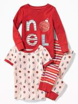 "Old Navy ""Noel"" Graphic 4-Piece Sleep Set for Toddler & Baby"