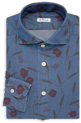 Kiton Contemporary-Fit Fantasy Floral Print Dress Shirt