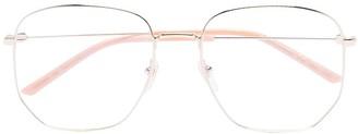 Gucci Square Wire Frame Glasses
