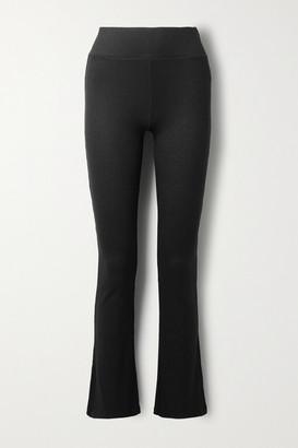 Rag & Bone Ribbed-knit Flared Pants - Black