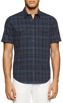 Calvin Klein Plaid Printed Cotton Shirt