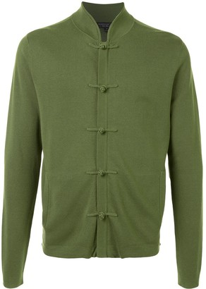 Shanghai Tang Toggle Button Front Cardigan