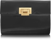 Fontanelli Black Patent Leather Clutch