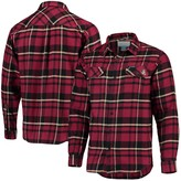 Columbia Unbranded Men's Garnet Florida State Seminoles Plaid Collegiate Flare Gun Long Sleeve Flannel Button-Up Shirt