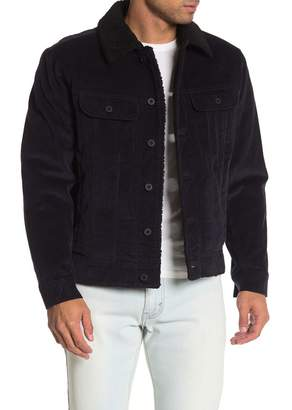 Vince Corduroy Faux Shearling Lined Jacket