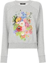 Diesel floral-print sweatshirt - women - Cotton - XS