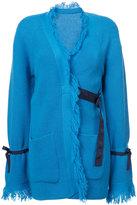Sacai fringed cardi-coat - women - Wool - 2