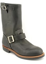 """Red Wing Shoes 11"""" Engineer Boot Men Round Toe Leather Black Work Boot."""
