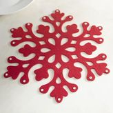 Pier 1 Imports Red Felt Snowflake Placemat