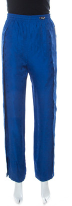 Louis Vuitton Blue Monogram Drawstring Detail Slit Jogging Pants M