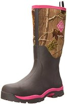 Muck Boot Women's Woody Pk Hunting Shoes, Bark/Realtree/Hot Pink
