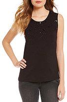 GUESS Chiara Embellished Knit Tank Top