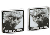 Star Wars STARWARS Yoda Do Or Do Not There Is No Try Cuff Links
