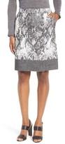 BOSS Women's Vaneki Snake Jacquard A-Line Skirt