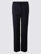 Classic Pique Elastic Back Straight Leg Trousers