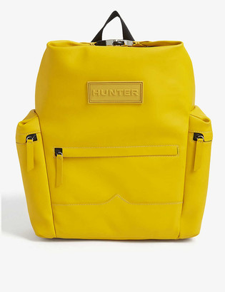 Hunter Original Top Clip rubberised leather backpack