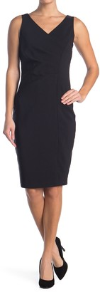Laundry by Shelli Segal Desk To Dinner Sleeveless Sheath Dress