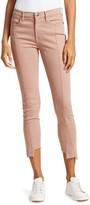 Frame Le High Skinny Asymmetric Hem Jeans