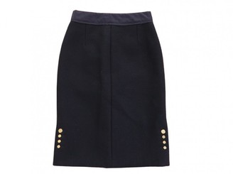 Louis Vuitton Navy Wool Skirt for Women
