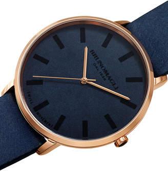 Bruno Magli Men's 42mm Roma Minimalist Watch w/ Leather Dial, Blue/Rose