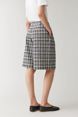 Cos Checked Cotton Seersucker Shorts