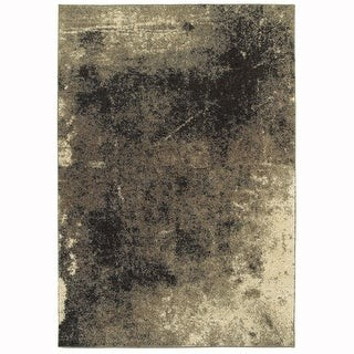 StyleHaven Cheval Distressed Abstract Beige/Brown Shag Area Rug