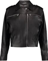 J Brand Maisie leather biker jacket