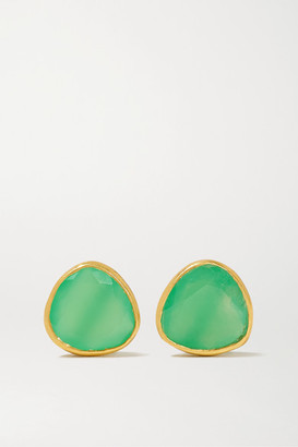 Pippa Small 18-karat Gold Chrysoprase Earrings