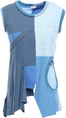 Loewe Cutout Paneled Color-block Cotton-jersey Tank