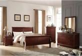 Redwood Sleigh Bed Red Barrel Studio Color: Cherry, Size: Queen