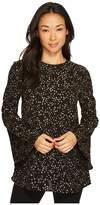 MICHAEL Michael Kors Foil Star Sleeve Tunic Women's Clothing