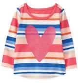 Gymboree Size 18-24M Multicolor Stripe Heart T-Shirt