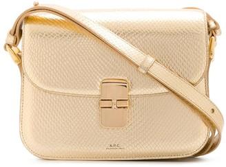 A.P.C. Metallic Leather Shoulder Bag