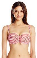 Seafolly Women's Riviera Stripe DD Cup Bustier Bikini Top