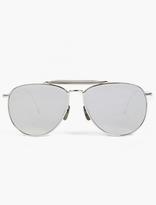 Thom Browne Silver TB-015 Limited Edition Aviator Sunglasses