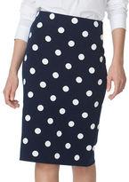 Chaps Polka-Dot Pencil Skirt