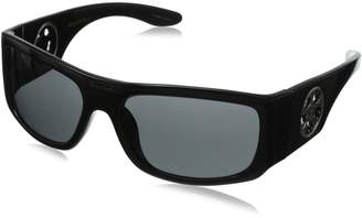 Black Flys Racer Fly with Smoked Lens Wrap Sunglasses