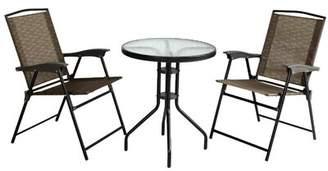 De.De Ebern Designs Folding Chair and Table 3 Piece Bistro Set Ebern Designs