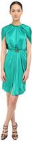 Versace Emerald Satin Halter Dress w/ Chain Detail
