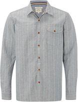 White Stuff Redstart Dobby Stripe Long Sleeve Shirt