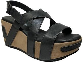 Antelope Crossed Classic Platform Wedge Sandal