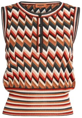 Missoni Zigzag Sleeveless Top