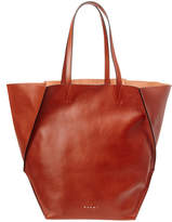 Marni Top Handle Leather Shopper Tote
