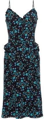 Altuzarra Ruffle-trimmed Floral-print Silk Crepe De Chine Slip Dress